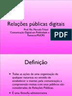 Apresentação sobre relações públicas digitais
