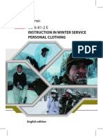UD 6-81-2 (E) Instruction in Winter Service Personel Clothing