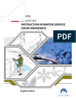 UD 6-81-8 (E) Instruction in Winter Service-Snow Awareness