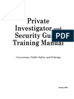 Private investigator and Security guard Training manual - 573pgs