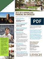 2012-13 Upperclass Financial Aid Checklist