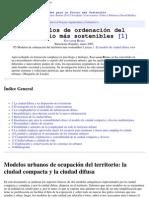 P5 Modelos de ordenación del territorio más sostenibles
