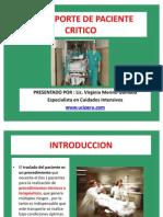 actulizacion transporte paciente crítico