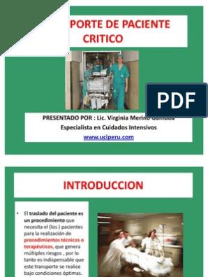 Traslado de paciente critico pdf