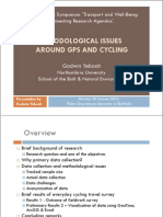 Methodological issues around GPS and Cycling