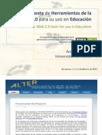 Propuesta de herramientas de la Web 2.0 para su uso en Educación