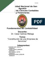 Constitucion de Una Epresa de Servivos