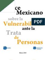 Índice Mexicano sobre la Vulnerabilidad ante la Trata de Personas