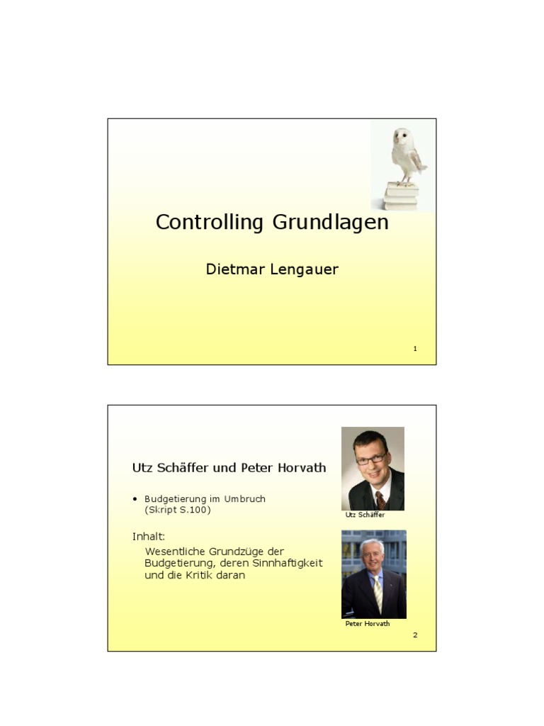 Controlling Budgetierung
