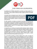 COMUNICADO DEFENSA DE LO PÚBLICO