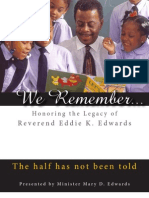 We Remember - Honoring the Legacy of Reverend Eddie K. Edwards
