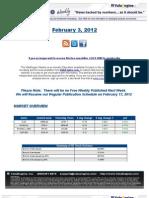 ValuEngine Weekly Newsletter February 2, 2012, 2012