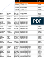 Honors Spring 2012 Directory