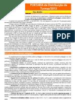 Portaria Distribuição de Carga - 2012