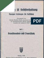 Luftschutz ist Selbsterhaltung Heft 2 - Brandbomben und Feuerschutz ( Werner Semprich ) 1936