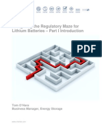The Regulatory Maze of Lithium Batteries Part I
