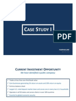 Fairholme Case Study I (With Disclaimers)