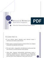 Avaliação Nutricional_exames físicos e bioquímicos