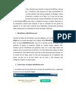 Crear Blog en Wordpress