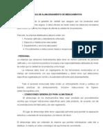 BUENAS PRÁCTICAS DE ALMACENAMIENTO DE MEDICAMENTOS