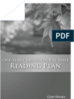 One Year Chronological Bible Reading Plan