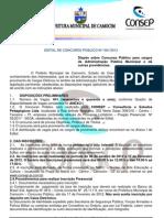 Edital Concurso de Camocim Camocim Online