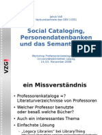 Social Cataloging Personendatenbanken und das Semantic Web