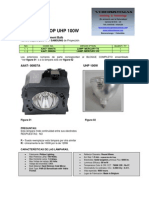 Informe Tecnico Sobre Lamparas Uhp Modelo Uhp-100w - 120w - Aa47- 00007a - Aa47- 00005a - Lamp- Mercury-ts
