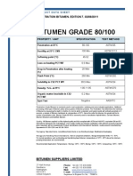 Penetration Bitumen 80-100 Specifications
