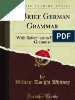 A Brief German Grammar - 9781440052231