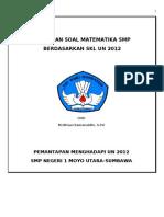 PREDIKSI Paket Soal Matematika Smp UN 2012