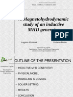 Augusto Montisci and Roberto Pintus- A Magnetohydrodynamic study of an inductive MHD generator