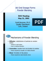 Solid Oral Dosage Forms. Powder Blending- Pfizer 2001