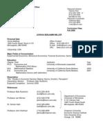 JoshuaMiller CV