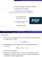 Joris Vankerschaver- The Motion of Solid Bodies in Perfect Fluids