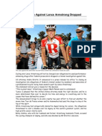 Drug Case Against Lance Armstrong Dropped