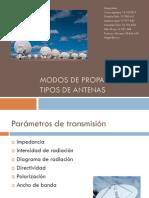 Modos de propagación y tipos de antenas