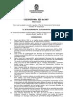 Decreto 120 Pot Marzo 22 de 2007