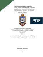 Trabajo Escrito - Modernizacion Policial y Gestion Publica