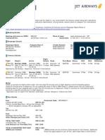 Jet Airways Web Booking eTicket ( MEHIOX ) - Pardake