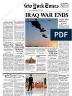 NEW YORK TIMES - Iraq War Ends JULY 4TH 2009
