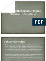 Analyzing the Consumer Buying Behavior in Pantaloons