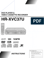 L0520042 (JVC DVD Player and Video Cassetter Recorder,HR-XVC37U).