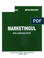 Marketingul - intr-o abordare critica