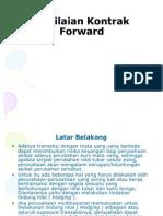 Penilaian Kontrak Forward