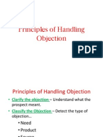Principles of Handling Objection