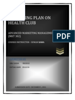 Marketin Plan on Health Club