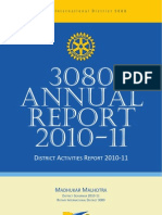 Rotary District 3080 Annual Report 2010-11