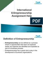 International Entrepreneurship Assignment Help