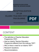 The Conceptualization of an Islamic Teacher Education Programme